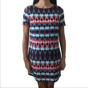 J. Crew Geometric Shift Dress